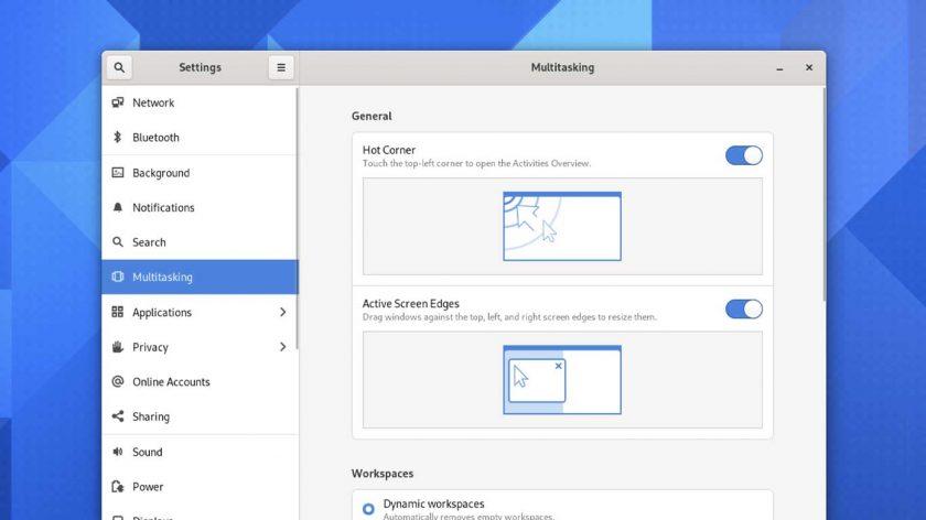 GNOME 41 features - multitasking settings