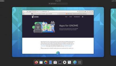 GNOME Apps website in GNOME web app