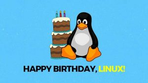happy birthday to you linux