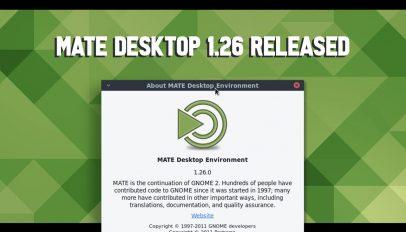banner reading 'mate desktop 1.26 released'