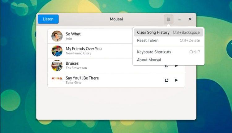 Mousai song recognition app on Linux desktop