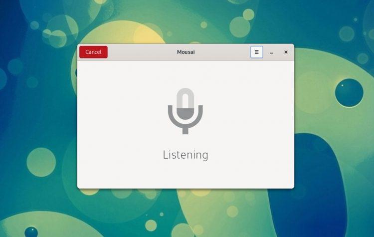 Mousai song recognition app listening on Linux desktop