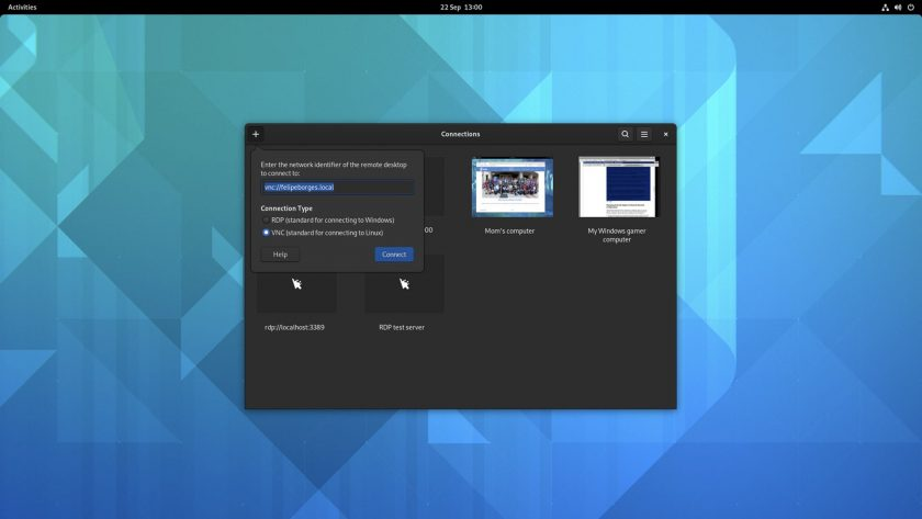 GNOME 41 Connections app screenshot