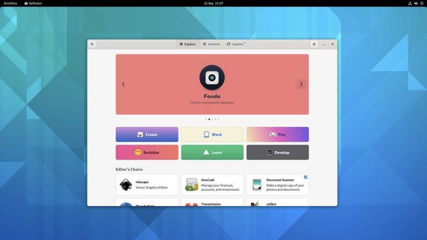 GNOME 41 software screenshot