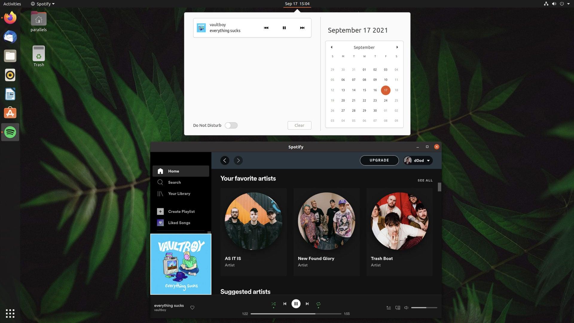 latest spotify version running on ubuntu 20.04